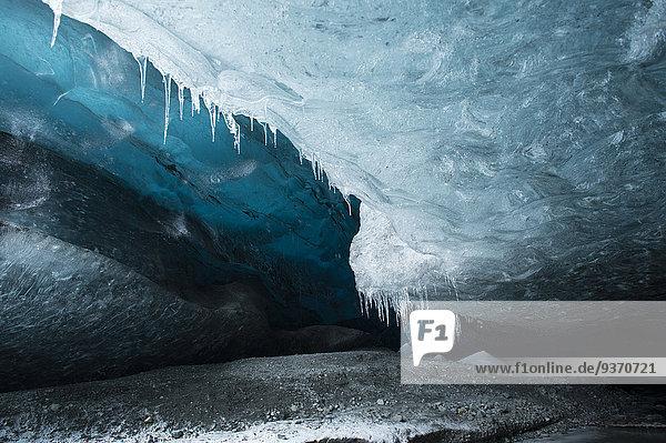 hängen Eis Höhle Vatnajökull Eiszapfen Decke Island
