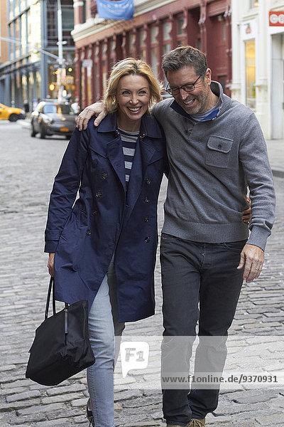 Europäer Vereinigte Staaten von Amerika USA New York City gehen Straße Großstadt