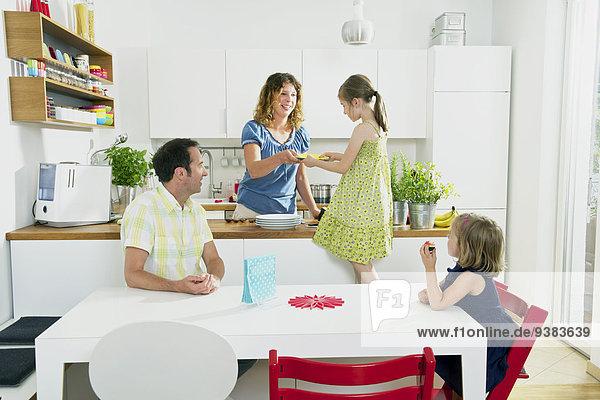 Tischset, Küche, Mädchen, Tisch