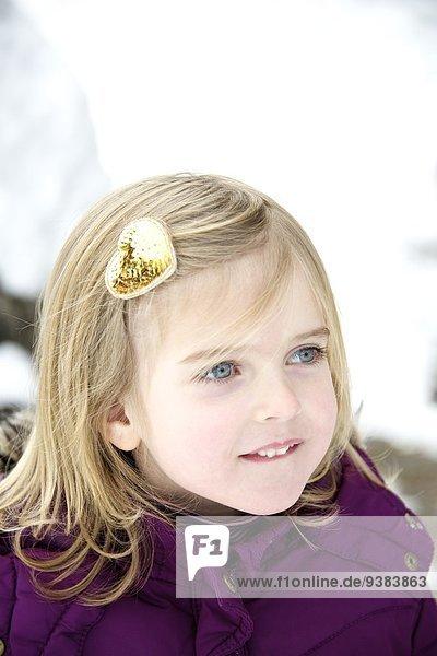 Little girl with hair clip  portrait  Oberammergau  Bavaria  Germany