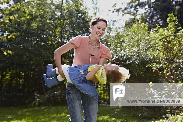 Garten Tochter Mutter - Mensch spielen