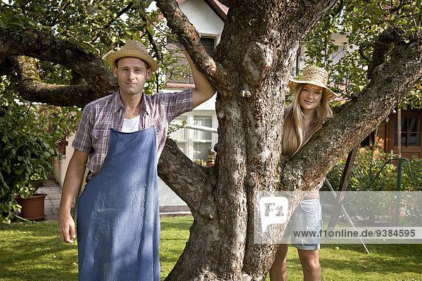 Baum Garten Mittelpunkt Apfel Erwachsener