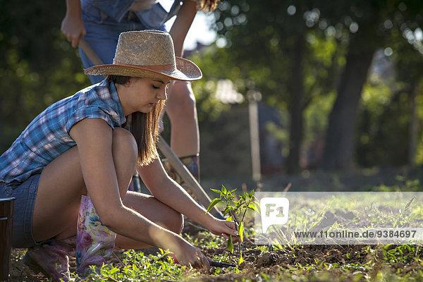 Young Women Gardening  Croatia  Slavonia  Europe