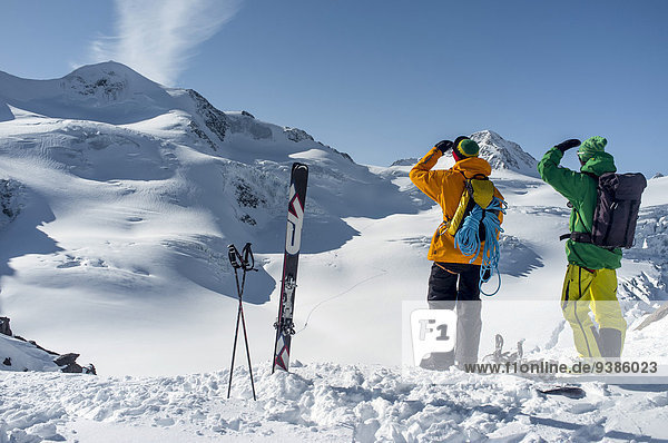 Berg sehen 2 Ski Alpen