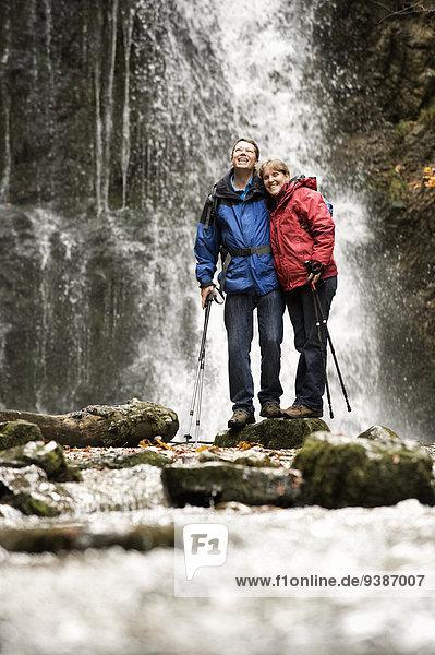 frontal Wasserfall