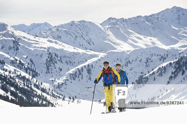 unbewohnte entlegene Gegend Ski Bewegung