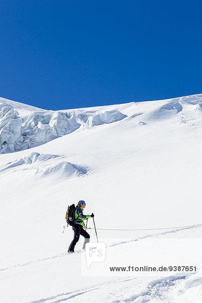 Skifahrer Bewegung