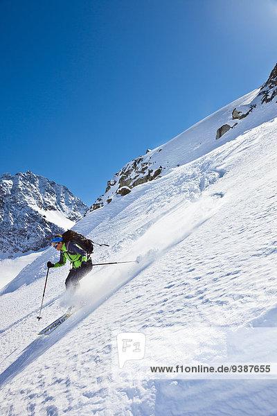 Skifahrer Skisport
