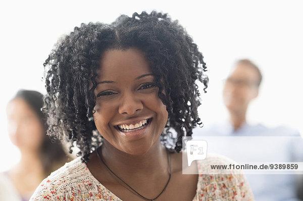 Portrait Frau lächeln