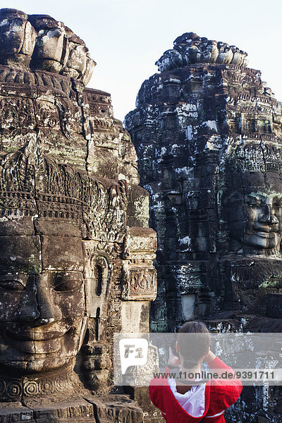 Asia,  Cambodia,  Siem Reap,  Angkor,  Angkor Wat,  Bayon,  Temple,  Khmer,  Architecture,  Buddha,  Buddhism,  Buddha Head,  Tourists,  Female Tourist,  Photographer,  Photography,  UNESCO,  World Heritage,  Sites