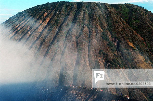 Volcano  Offering  Celebration  Volcano Bromo  Java  Indonesia