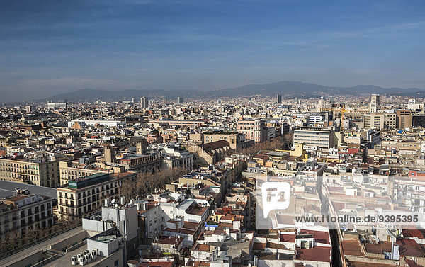 Barcelona  Catalonia  City  Ciutat Vella  Old Town  Spain  Europe  architecture  downtown  panorama  ramblas  roofs  skyline  tourism  travel