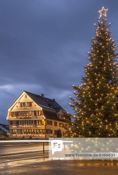 Europa Stadt Großstadt Weihnachten Advent Schweiz