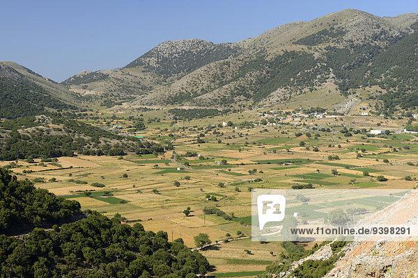 Europa Landschaft Insel Griechenland Hochebene Kreta griechisch
