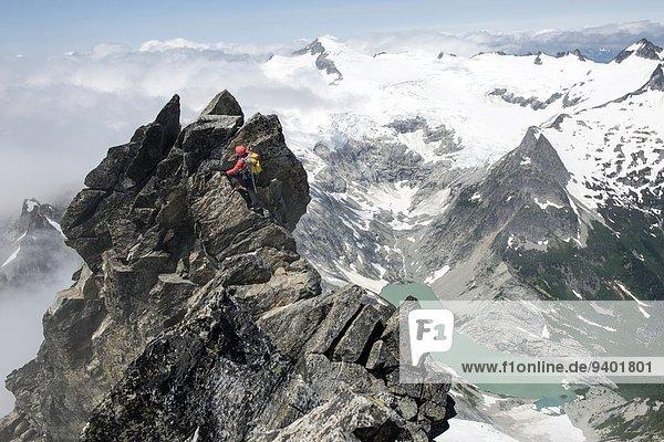 nahe Nationalpark Frau Berggipfel Gipfel Spitze Spitzen verboten Cascade Mountain