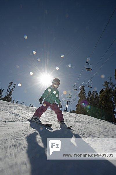 lernen Ski Mädchen