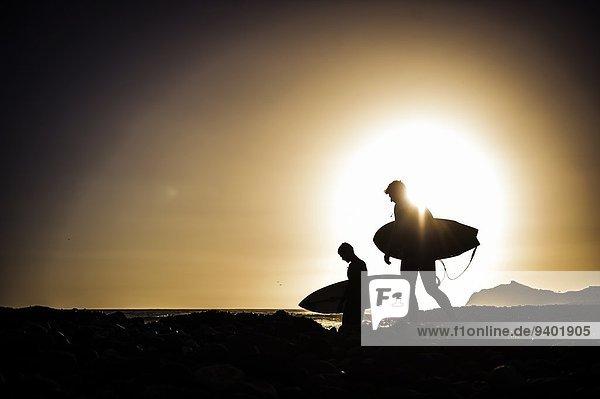 Kitesurfer Sonnenuntergang 2 1 Brandung