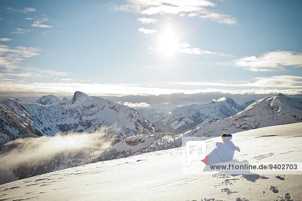 Winter Mann Landschaft Tasche