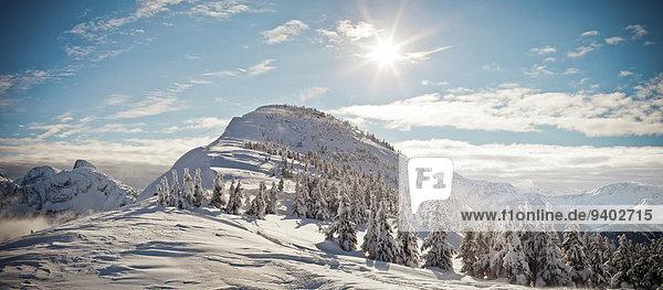 Winter Landschaft Sonnenaufgang