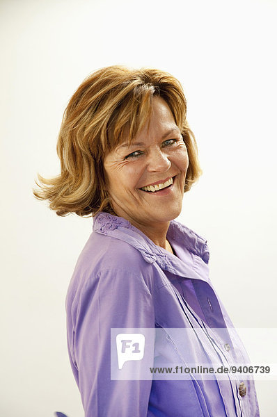 Senior woman smiling  portrait