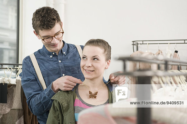 Mann Halskette Kette Laden jung Mode Collier