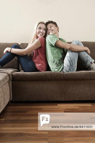 Jugendlicher Entspannung Couch