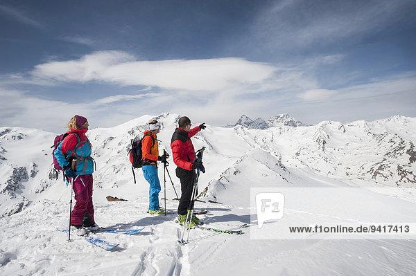 Berg Winter Alpen Ski Ansicht Schnee