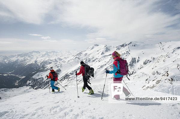 Berg Landschaft Tagesausflug Skisport querfeldein Cross Country