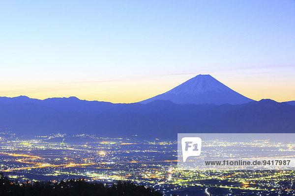 Ansicht Berg Fuji Japan Yamanashi Präfektur