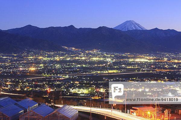 Ansicht, Berg, Fuji, Japan, Yamanashi Präfektur