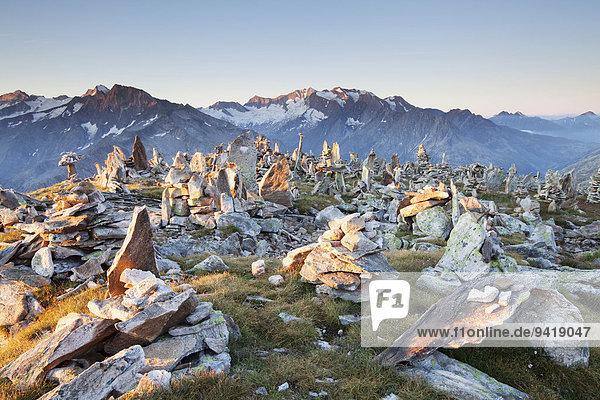 Steinmänner auf dem Petersköpfl  Ginzling  Tirol  Österreich
