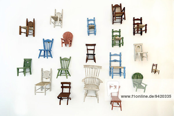 Chairs  miniatures  wall decoration