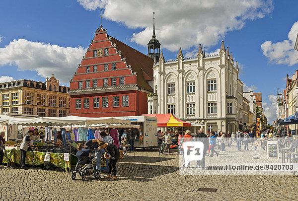 Marktplatz  Greifswald  Mecklenburg Vorpommern  Deutschland
