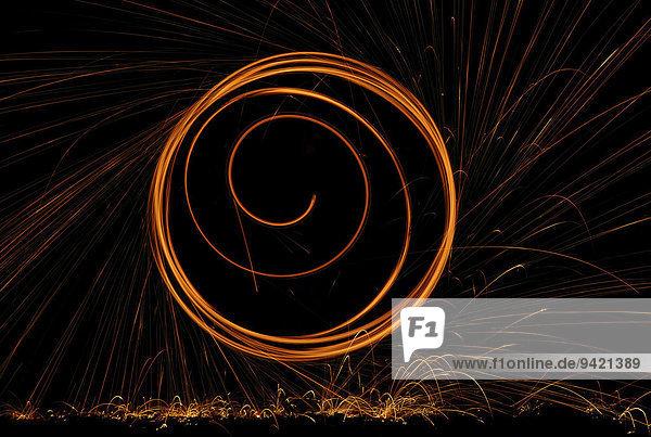 Lightpainting  Feuerwerk  Funken