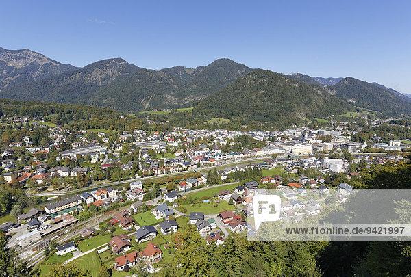 Ausblick vom Siriuskogel  Bad Ischl  Salzkammergut  Oberösterreich  Österreich