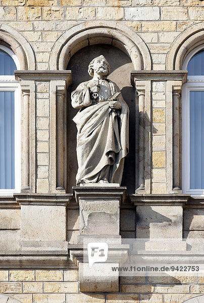 Saint statue at the seminary  Osnabrück  Lower Saxony  Germany