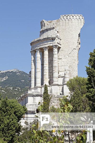 Tropaeum Alpium oder Trophée des Alpes  La Turbie  Cote d'Azur  Frankreich