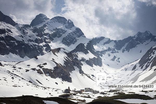 Abendstimmung im Alpsteingebirge  Blick vom Säntis mit Altmann  Appenzellerland  Alpen  Schweiz  Europa