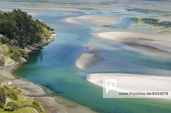 Gezeitenströme  Hoopers Inlet  Otago  Südinsel  Neuseeland