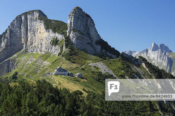 Berggasthaus Stauberen im Alpstein  Appenzell  Schweiz  Europa  ÖffentlicherGrund