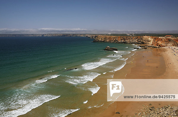 Strand  Steilküste  Atlantikküste  bei Sagres  Portugal