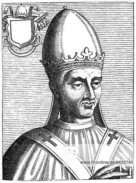 Pope Adrian I or Hadrianus I  pope from 772 to 795  Hadrian I  historical illustration