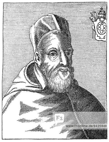 Pope Leo IX  1002  1054  born Bruno of Egisheim-Dagsburg  Pope from 1049 to 1054  German aristocrat  historical illustration
