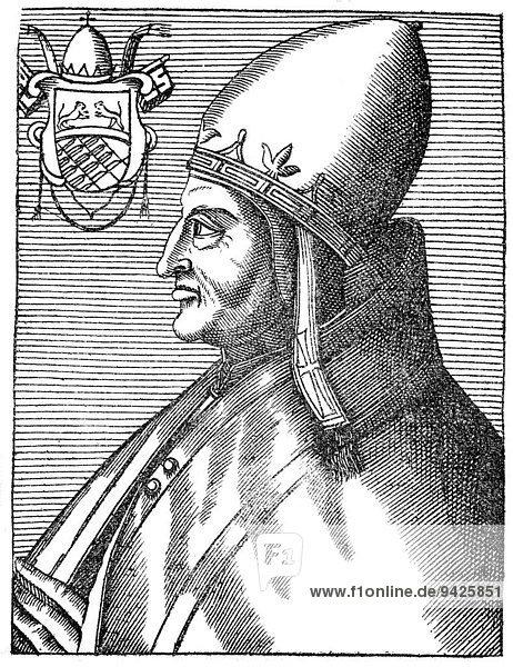 Pope Anastasius IV  born Corrado Demetri della Suburra  Pope from 1153 to 1154  Konrad von Suburra  Corrado della Suburra  historical illustration