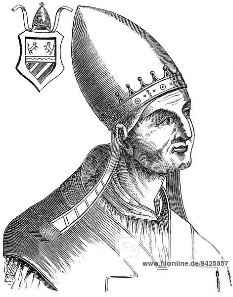 Pope Honorius IV  c. 1210-1287  born Giacomo Savelli  Pope from 1285 to 1287  historical illustration
