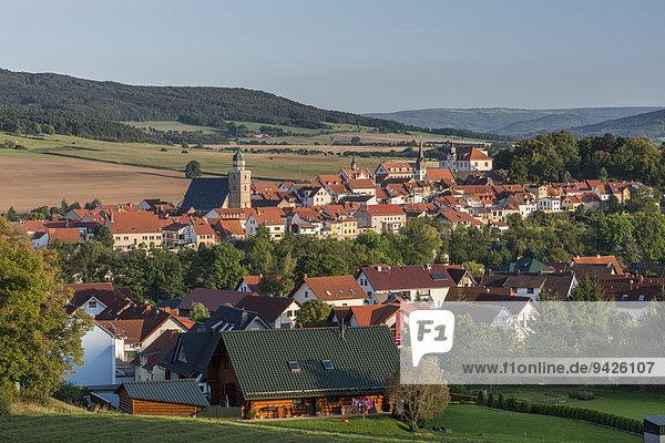 Ansicht Stadt Geisa  ehemaliges Sperrgebiet  innerdeutsche Grenze  bei Gedenkstätte Point Alpha  Geisa  Rhön  Thüringen  Deutschland