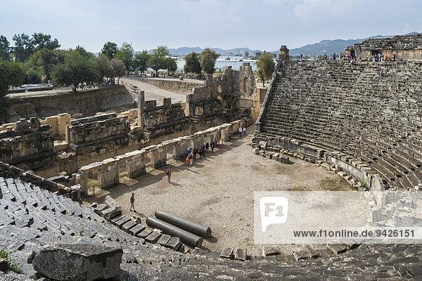Römisches Theater  antike Stadt Myra  Demre  Provinz Antalya  Türkei
