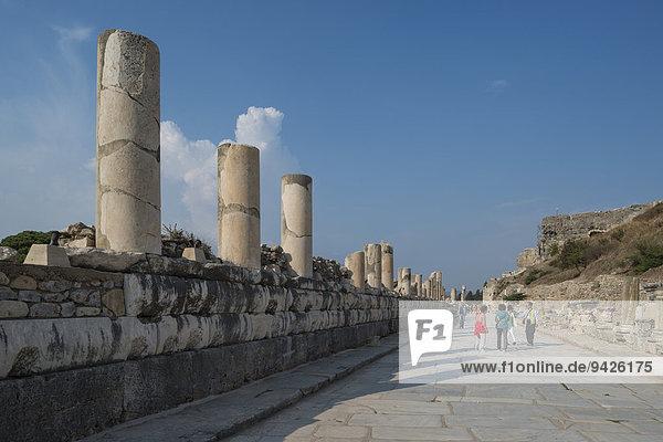 Marble road  ancient city of Ephesus  UNESCO World Heritage Site  Selçuk  Izmir Province  Turkey