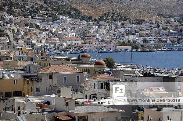Pothia or Pothaia or Kalymnos Town  port city on Kalymnos  Dodecanese  Greece