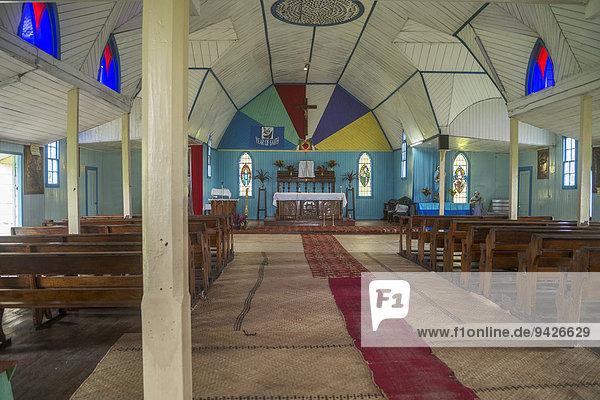 Innenraum der Sacred Heart Kirche  Levuka  Ovalau  Fidschi